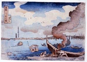 歌川国芳の「東都三ツ股の図」。天保2(1831)年ごろの作